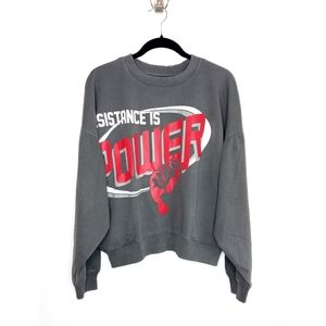"""Willy Chavarria """"Resistance is Power"""" Sweater"""